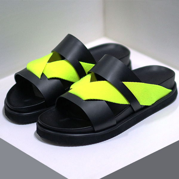 VW slippers _neon lime 네온라임